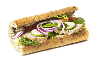 Grov sandwich m. frikadelle