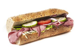 Grov sandwich m. roastbeef