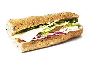 Grov sandwich m. skinke & ost